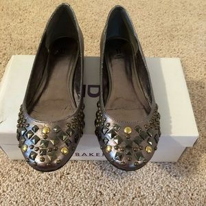Bakers Studded Pewter Flats